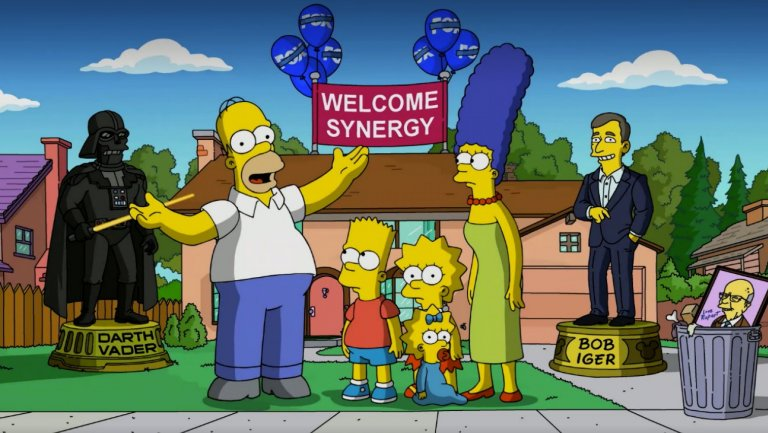 The Simpsons make their Disney+ announcement (The Walt Disney Company)
