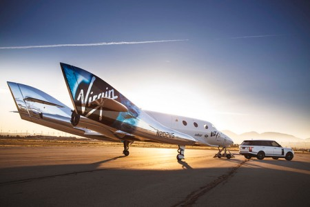 Virgin Galactic SpaceShipTwo at the Mojave Air and Space Port, California. (Photo credit: Land Rover MENA)