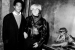 Jean-Michel Basquiat and Andy Warhol in 1984.