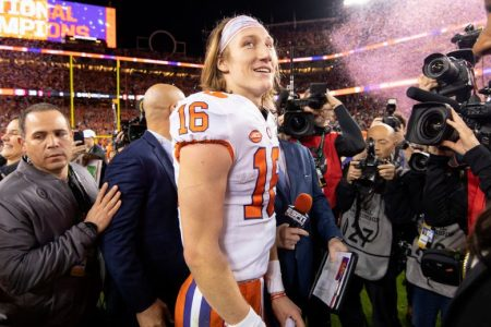 Trevor Lawrence of the Clemson Tigers. (Jamie Schwaberow/Getty)