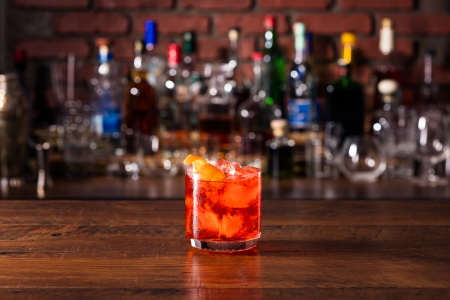 The Clint is a Campari-based cocktail made by Jackie O's secret service agen