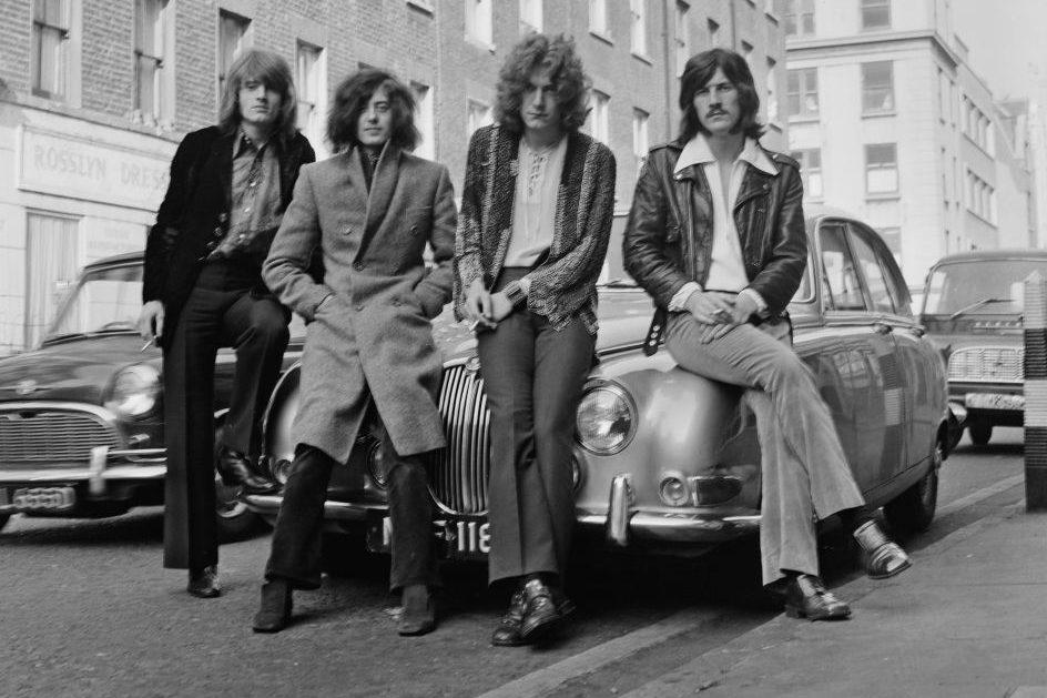 Group portrait of Led Zeppelin in 1968. (Dick Barnatt/Redferns)