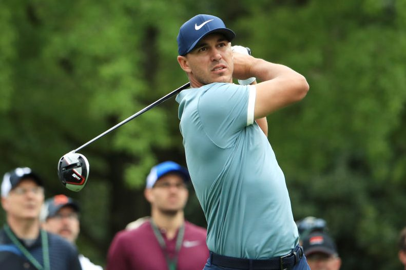 Brooks Koepka at the Masters. (Photo by Andrew Redington/Getty Images)