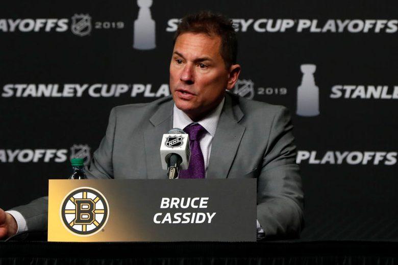 Boston Bruins head coach Bruce Cassidy. (Fred Kfoury III/Icon Sportswire via Getty)