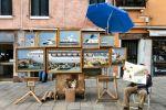 """Banksy's """"Venice in Oil"""" on display in St. Mark's Square"""