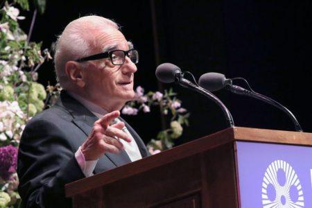 Director Martin Scorsese speaks at Lincoln Center. (Jim Spellman/WireImage)