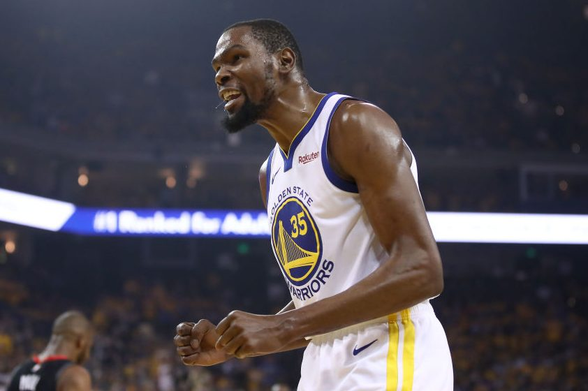 Kevin Durant of the Golden State Warriors. (Ezra Shaw/Getty)