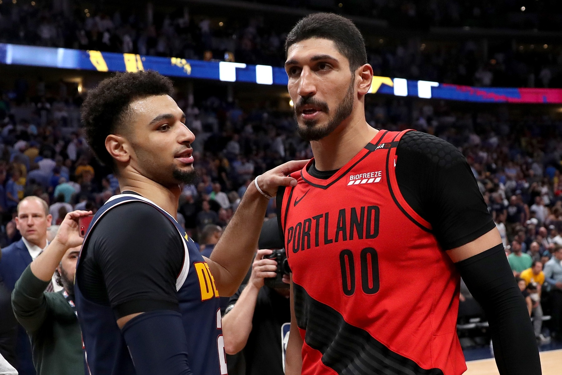 ac1880eab07 Turkey won t air the Western Conference Finals because they include Enes  Kanter. (Matthew Stockman  Getty)