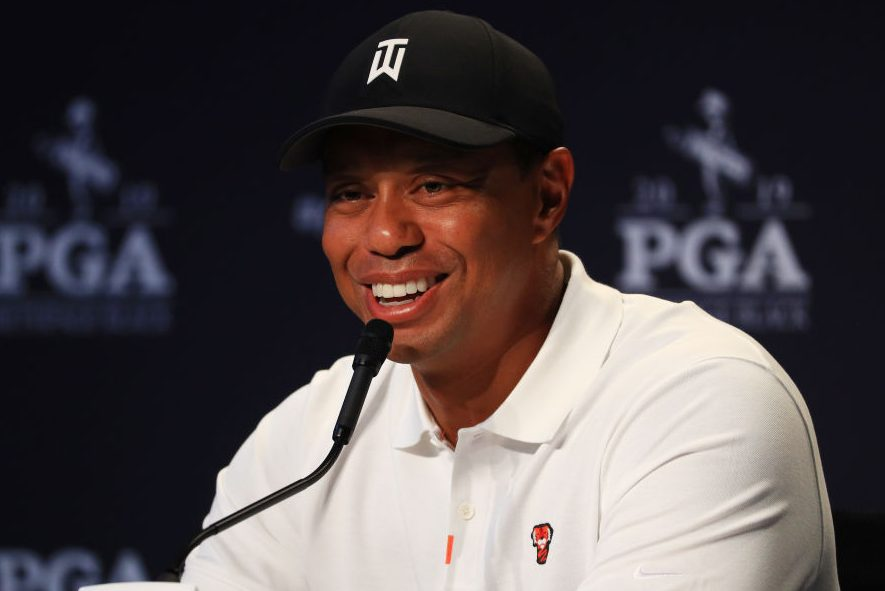 Tiger Woods at the 2019 PGA Championship. (Mike Ehrmann/Getty)