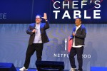 Jon Favreau and Roy Choi speak onstage at the Netflix FYSEE Food Day.