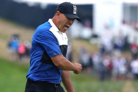Brooks Koepka celebrates winning the PGA Championship. (Warren Little/Getty)