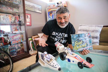 Steve Caballero has a mini museum dedicated to Evel Knievel