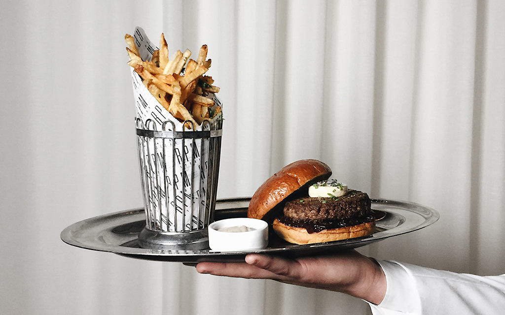 Black Truffle Burger and Fries at RPM Steak