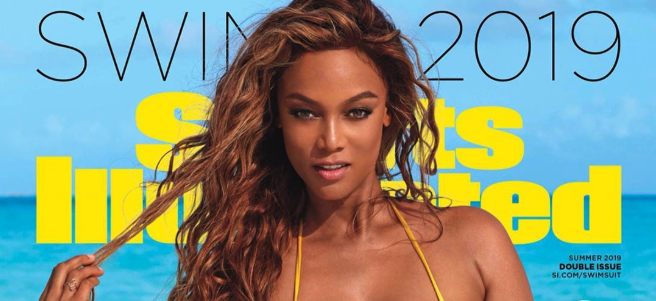 Tyra is smizing for Sports Illustrated again.