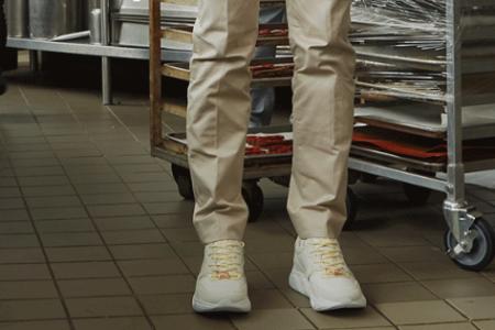 Chef Dominique Ansel's Koio Avalanche sneakers. (Koio)