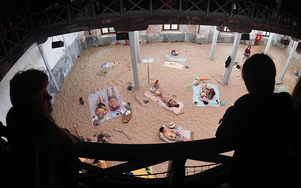 025e8e99ff5 Sun & Sea, the winning exhibition from Lithuania (Felix Hörhager/Getty  Images)