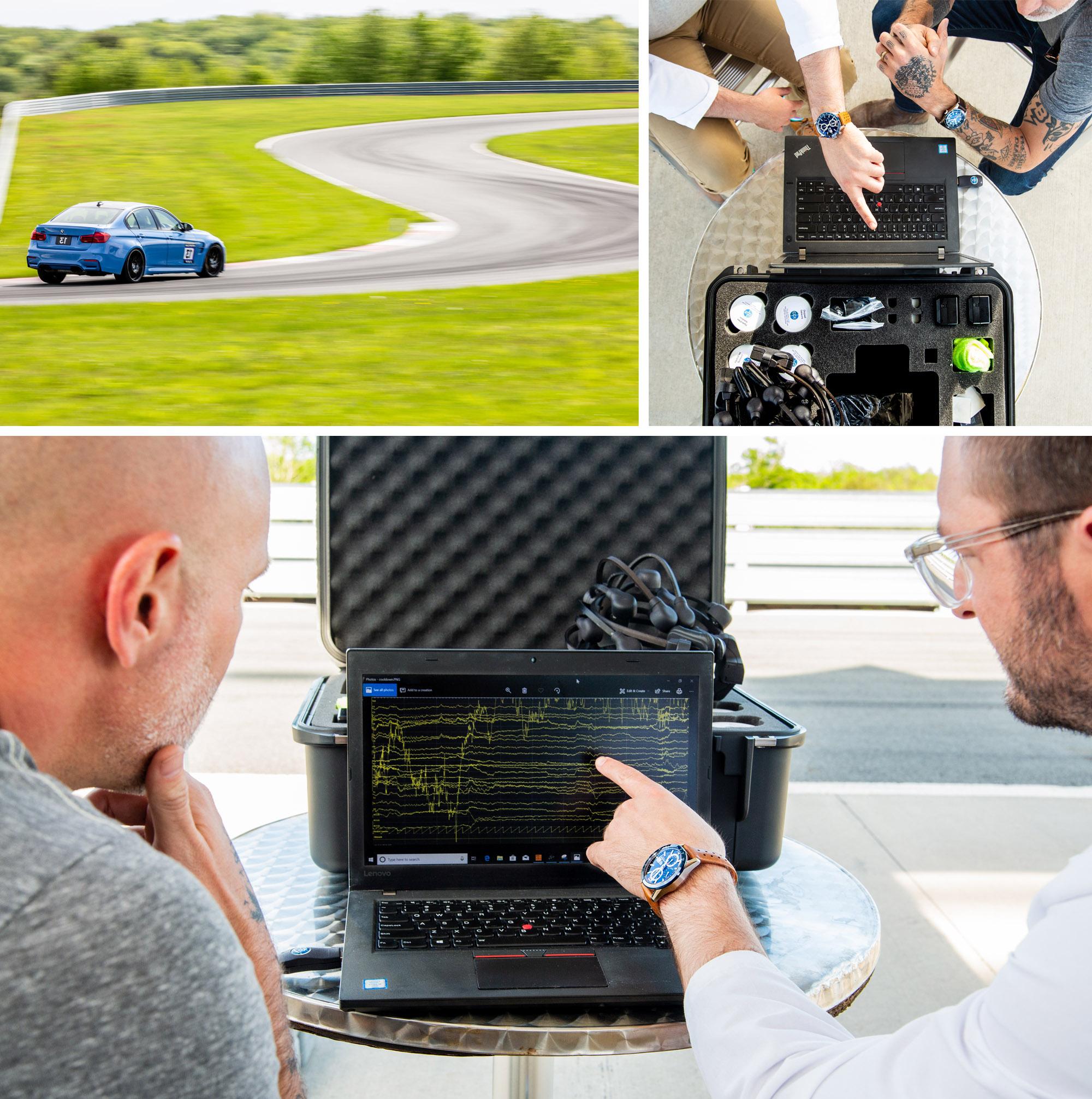TAG Heuer Autavia Science of Performance Monticello Race Track EEG