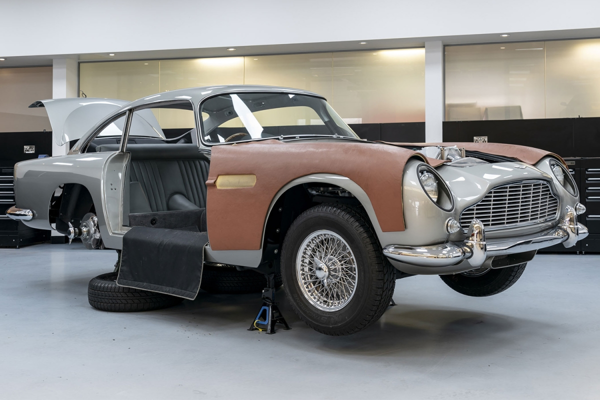 """Aston Martin is selling replicas of the DB5 from """"Goldfinger,"""" working gadgets and all."""