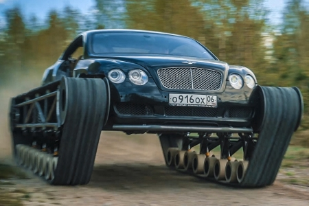 The Ultratank is a Bentley Continental GT with tank treads. And yes, it works.