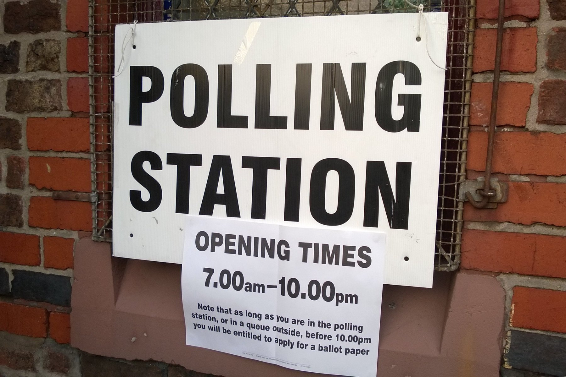 Image of polling place