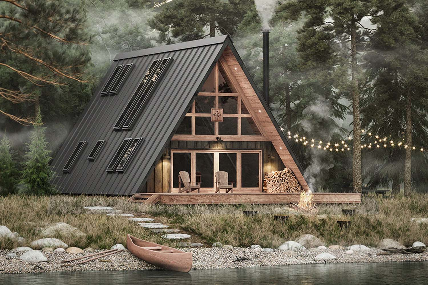 The Tiny-Home Masters Now Offer a DIY A-Frame Cabin - InsideHook
