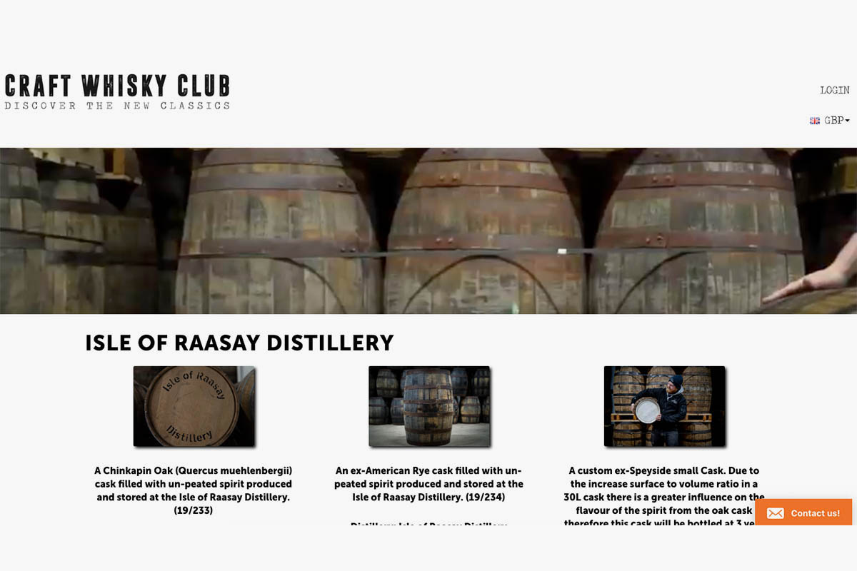 The Caskshare platform allows you to pick how your whisky is matured (Photo: Craft Whisky Club)