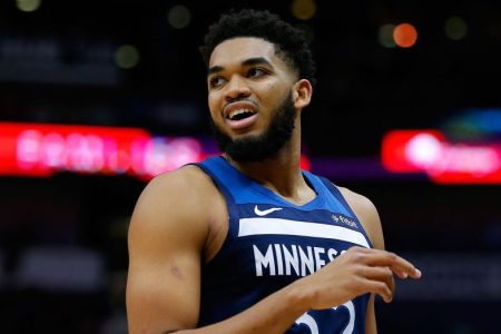 Karl-Anthony Towns of the Minnesota Timberwolves. (Jonathan Bachman/Getty)