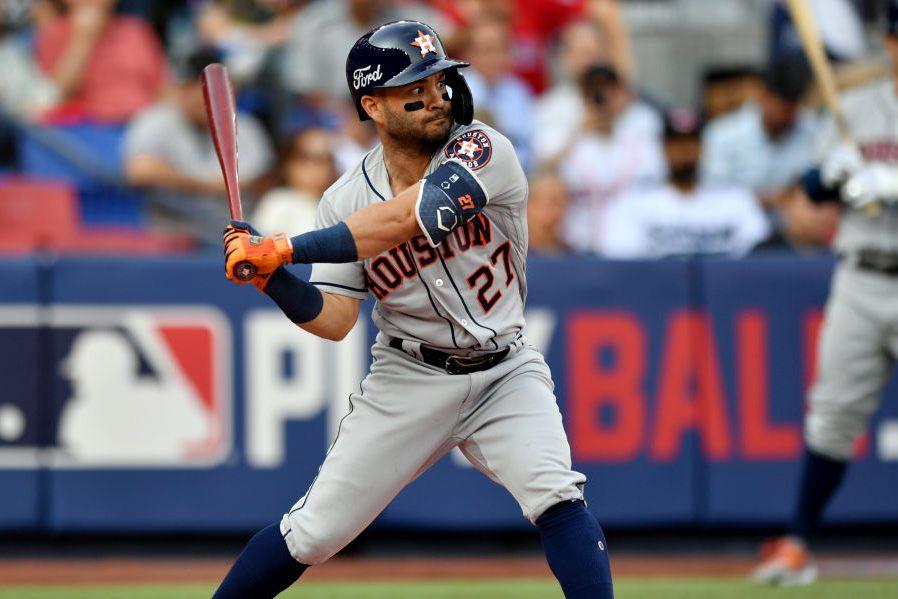 Jose Altuve of the Houston Astros on May 4, 2019. (Roberto Maya/MLB Photos via Getty)