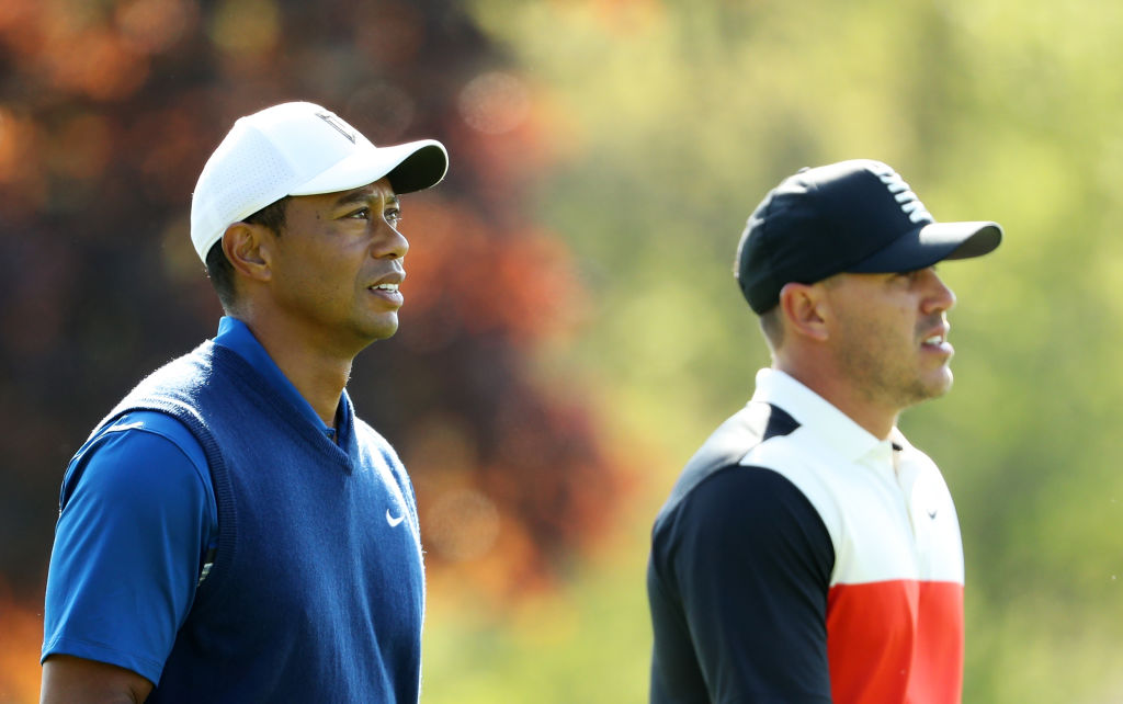 f32608ec Tiger Woods and Brooks Koepka at the 2019 PGA Championship. (Patrick  Smith/Getty)