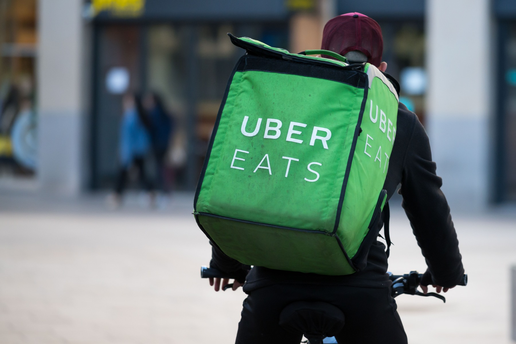 Uber Eats couriers are passing off the work and keeping the pay
