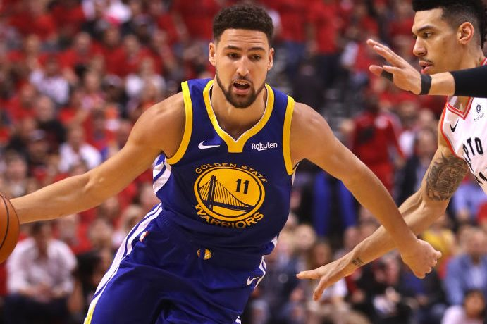 Klay Thompson is one of Joe McLean's clients. (Gregory Shamus/Getty)