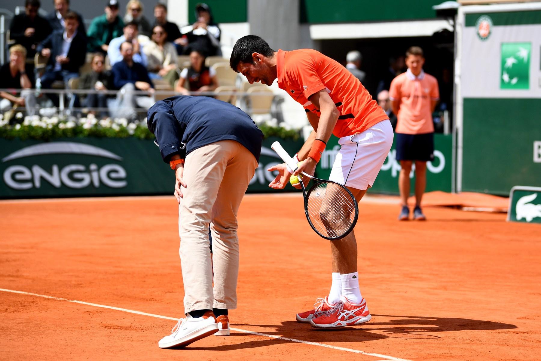 Novak Djokovic Umpire French Open