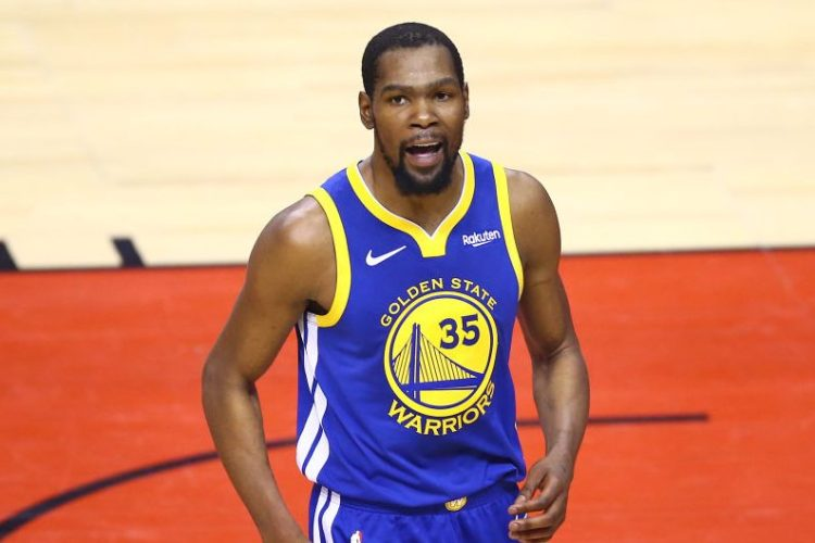 Kevin Durant in Game Five of the 2019 NBA Finals. (Vaughn Ridley/Getty)