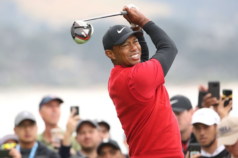 Tiger Woods plays during the final round of the 2019 U.S. Open. (Christian Petersen/Getty)