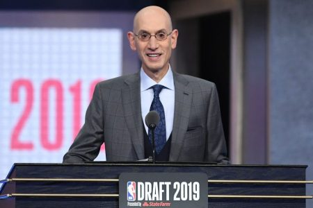 NBA Commissioner Adam Silver at the 2019 NBA Draft. (Sarah Stier/Getty Images)