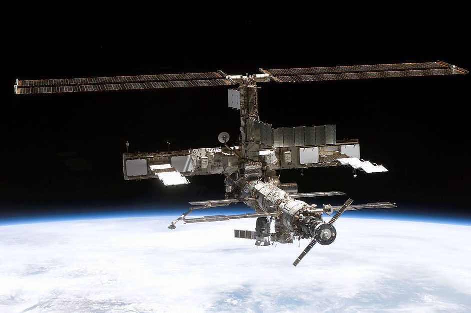 Full view of the International Space Station. (NASA via Getty Images)