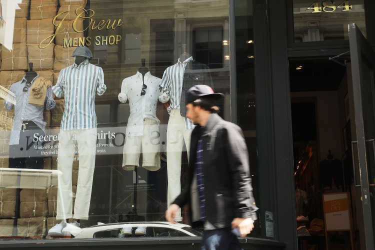 J.Crew has gone from menswear giant to lost in the woods (Photo by Spencer Platt/Getty Images)