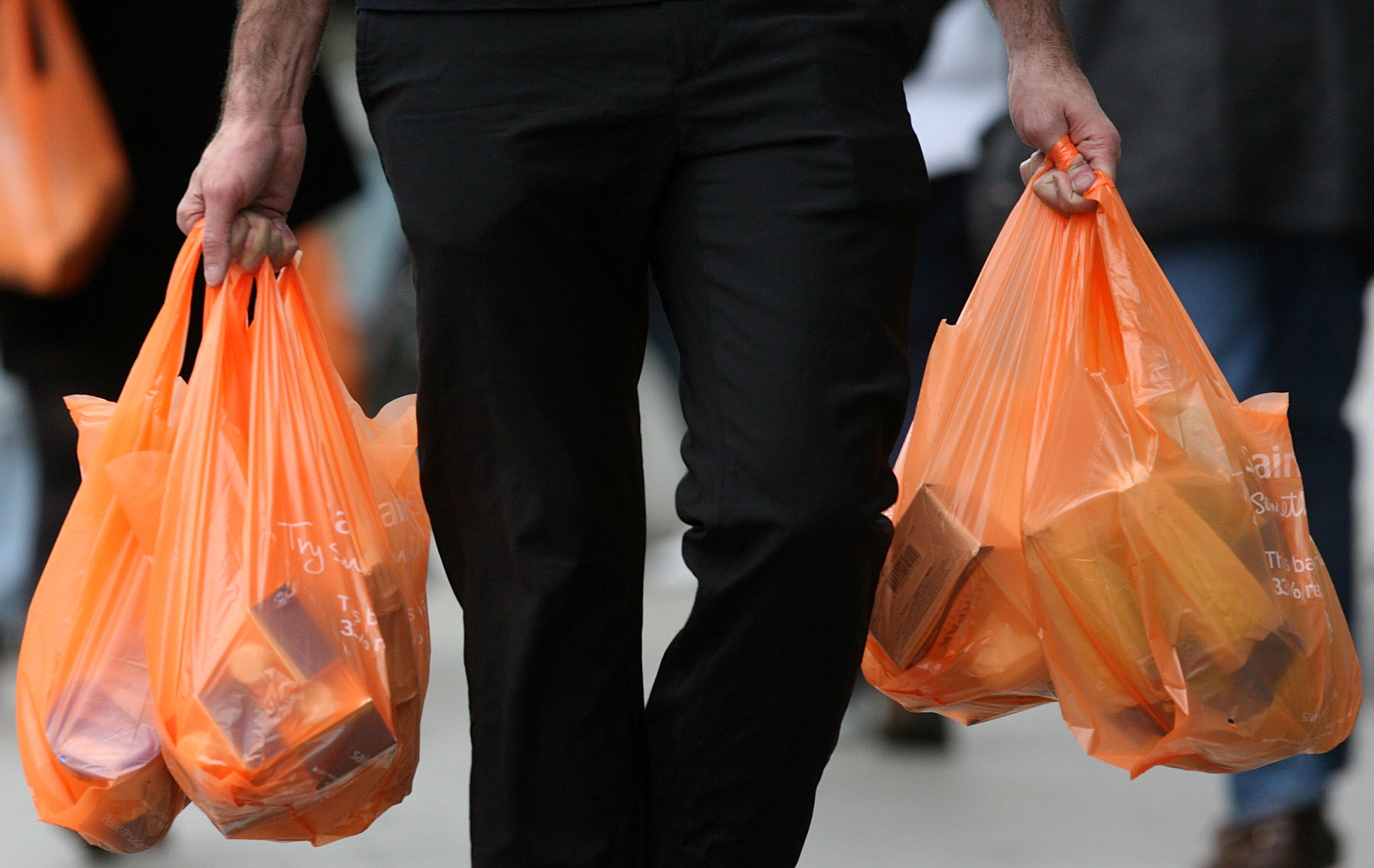 Grocery Store Prints Embarrassing Logos on Plastic Bags to Deter Customer Use