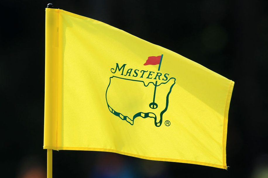 A flag with the Augusta National logo. (David Cannon/Getty)
