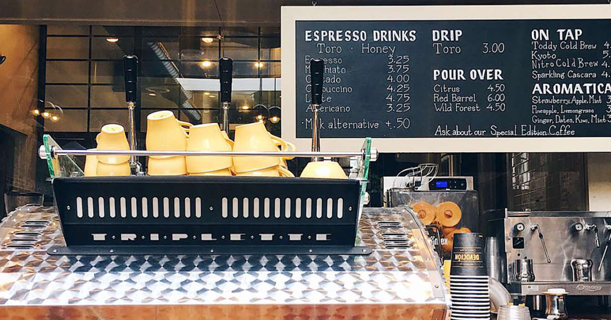 Devoción's fair trade Colombian coffee is some of the best in New York
