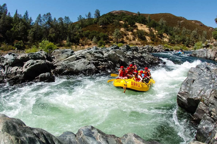 The American River is one of the country's best spots for rafting.