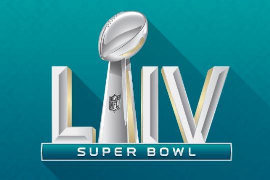The logo for Super Bowl LIV. (NFL)