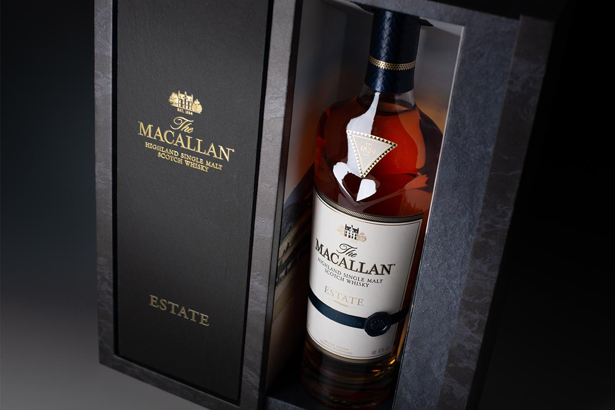The Macallan Estate packaging