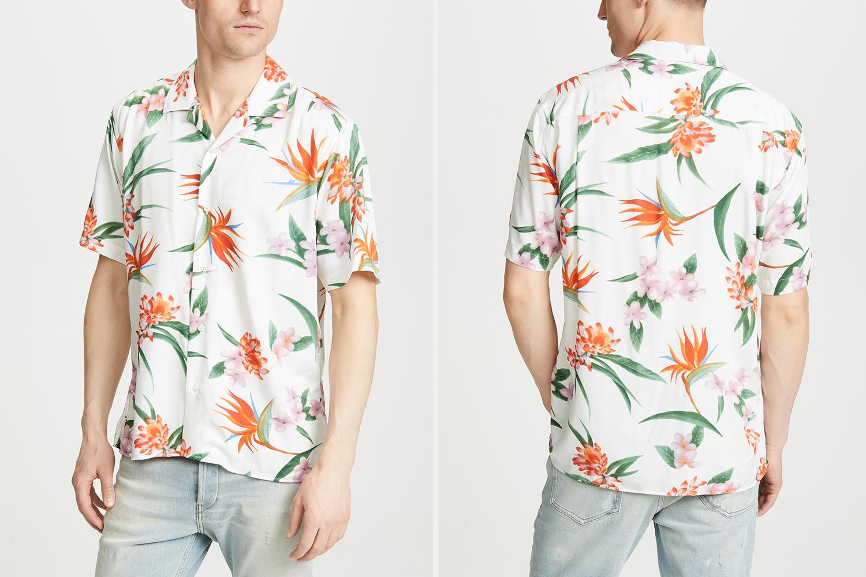 White Aloha Gitman Vintage Shirt Sale