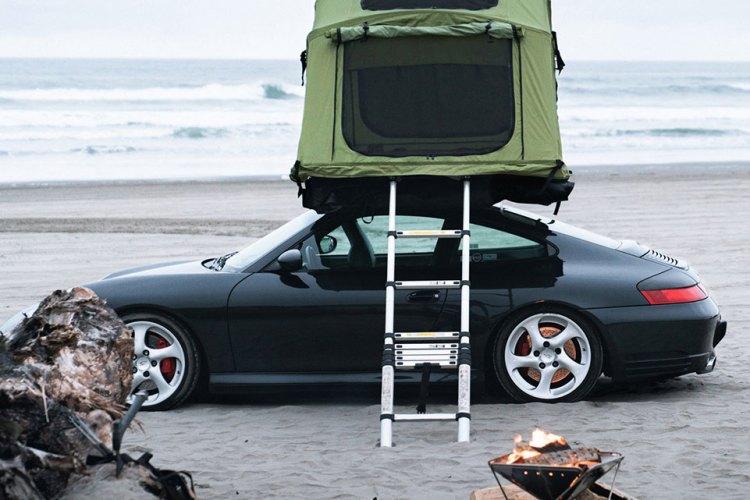 porsche car camping