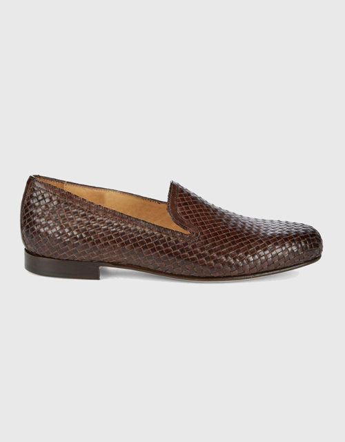 Saks Fifth Avenue Woven Leather Loafers