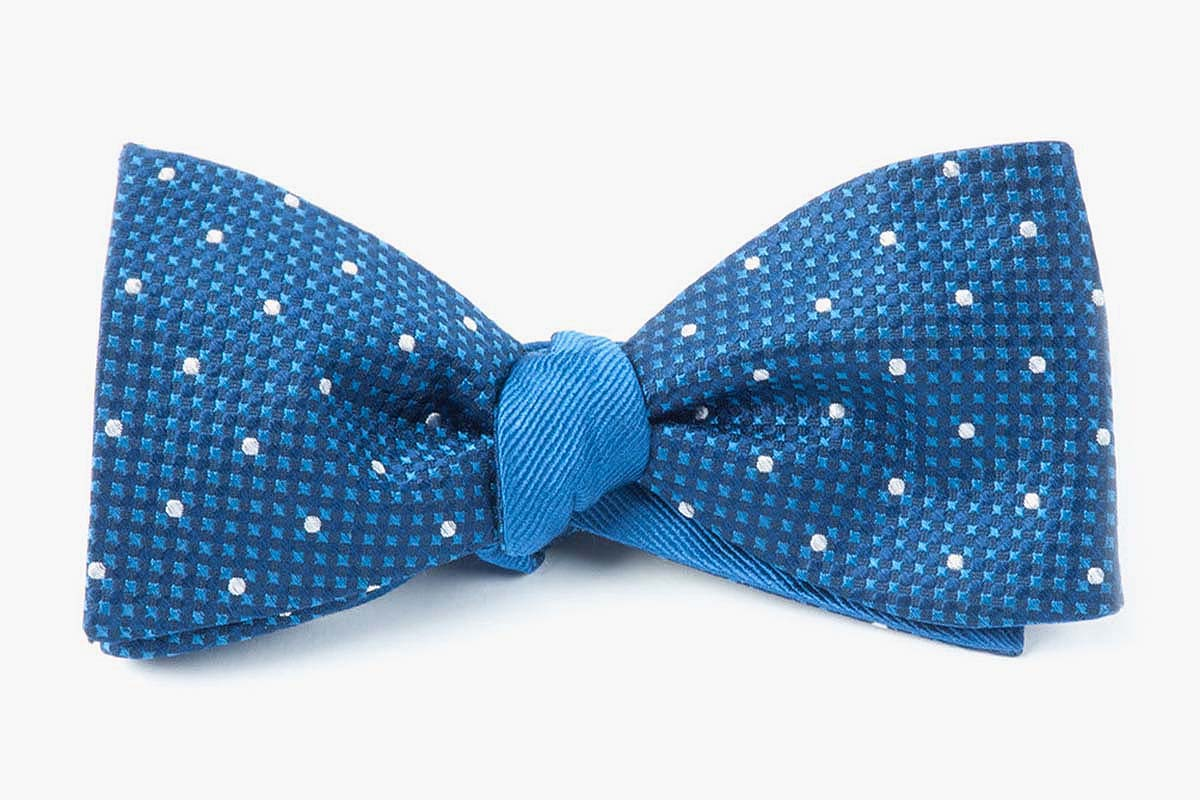 Navy Vinyl Solid Bow Tie