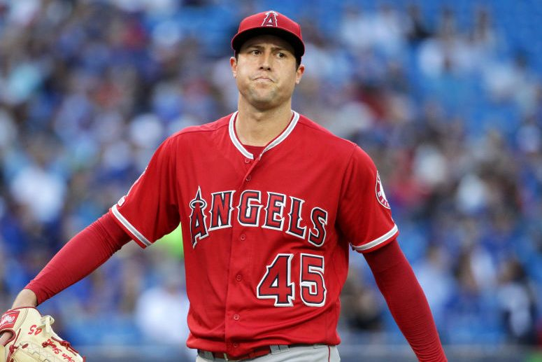Los Angeles Angels Starting pitcher Tyler Skaggs. Jeff Chevrier/Icon Sportswire via Getty