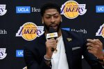 Anthony Davis at a news conference. (Kevork Djansezian/Getty)