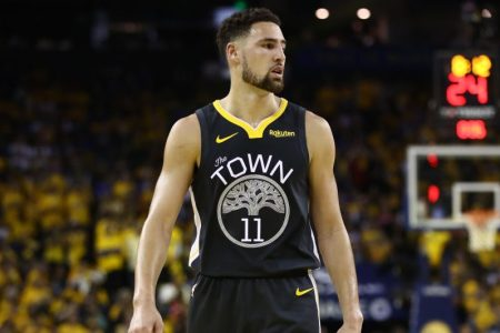 Klay Thompson of the Golden State Warriors. (Ezra Shaw/Getty)